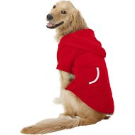 Footed Pajamas Dog Joggies, Red, X-Large