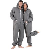 Footed Pajamas Unisex Adult Joggies, Charcoal Gray, Medium
