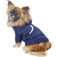 Footed Pajamas Dog Joggies, Navy Blue, X-Small