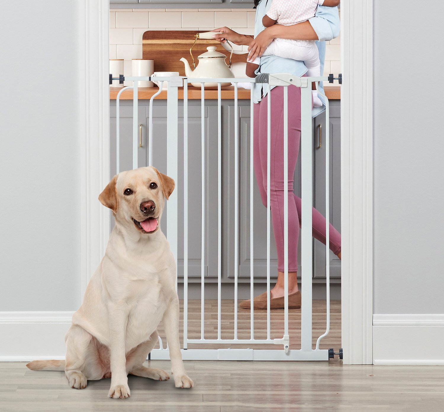 Regalo Easy Step Extra Tall Walk Through Gate White 41