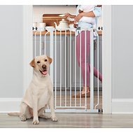 Regalo Easy Step Extra Tall Walk-Through Gate, 41-inch, White