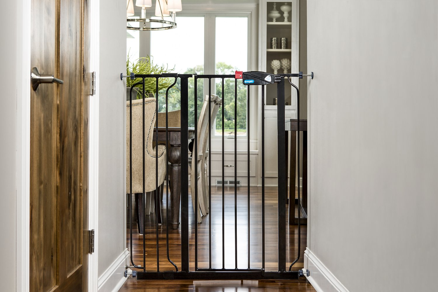 Regalo Easy Step Extra Tall Walk Through Gate Black 41