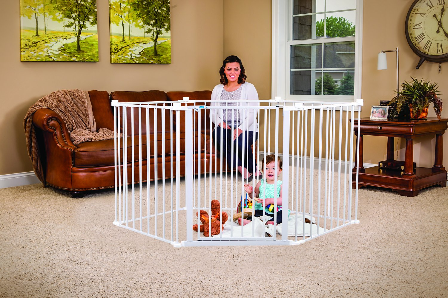 regalo 4 in 1 play yard configurable gate chewy com