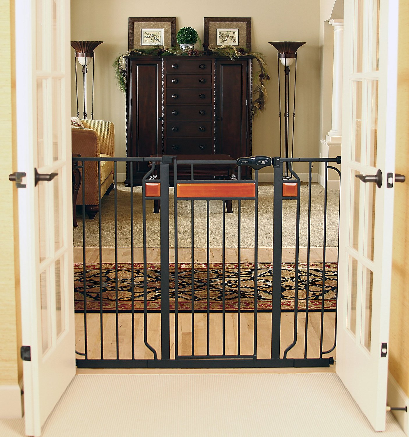 Regalo Home Accents Extra Tall Walk Through Gate 37 In