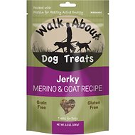 Walk About Grain-Free Goat Jerky Dog Treats, 5.5-oz bag