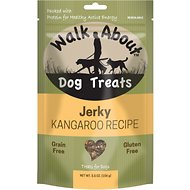 Walk About Grain- Free Kangaroo & Sweet Potato Jerky Dog Treats, 7-oz bag