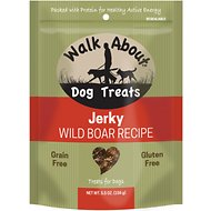 Walk About Grain- Free Wild Boar with Apple Jerky Dog Treats, 7-oz bag