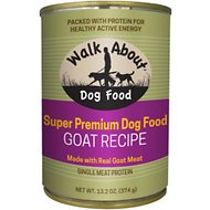 Walk About Grain-Free Goat Recipe Canned Dog Food, 13.2-oz, case of 12