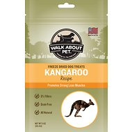 Walk About Grain-Free Freeze Dried Kangaroo Dog Treats, 4-oz bag