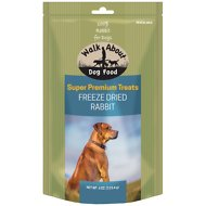 Walk About Grain-Free Freeze Dried Rabbit Dog Treats, 4-oz bag