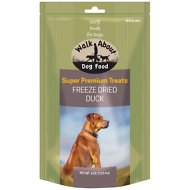Walk About Grain-Free Freeze Dried Duck Dog Treats, 4-oz bag