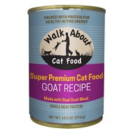 Walk About Grain-Free Goat Recipe Canned Cat Food, 13.2-oz, case of 12