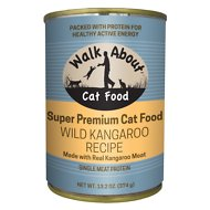 Walk About Grain-Free Wild Kangaroo Recipe Canned Cat Food, 13.2-oz, case of 12