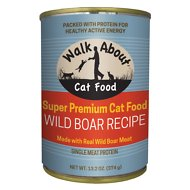 Walk About Grain-Free Wild Boar Recipe Canned Cat Food, 13.2-oz, case of 12