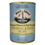 Walk About Grain-Free Brushtail & Duck Recipe Canned Cat Food, 13.2-oz, case of 12