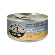 Walk About Grain-Free Wild Kangaroo Recipe Canned Cat Food, 3.5-oz, case of 24