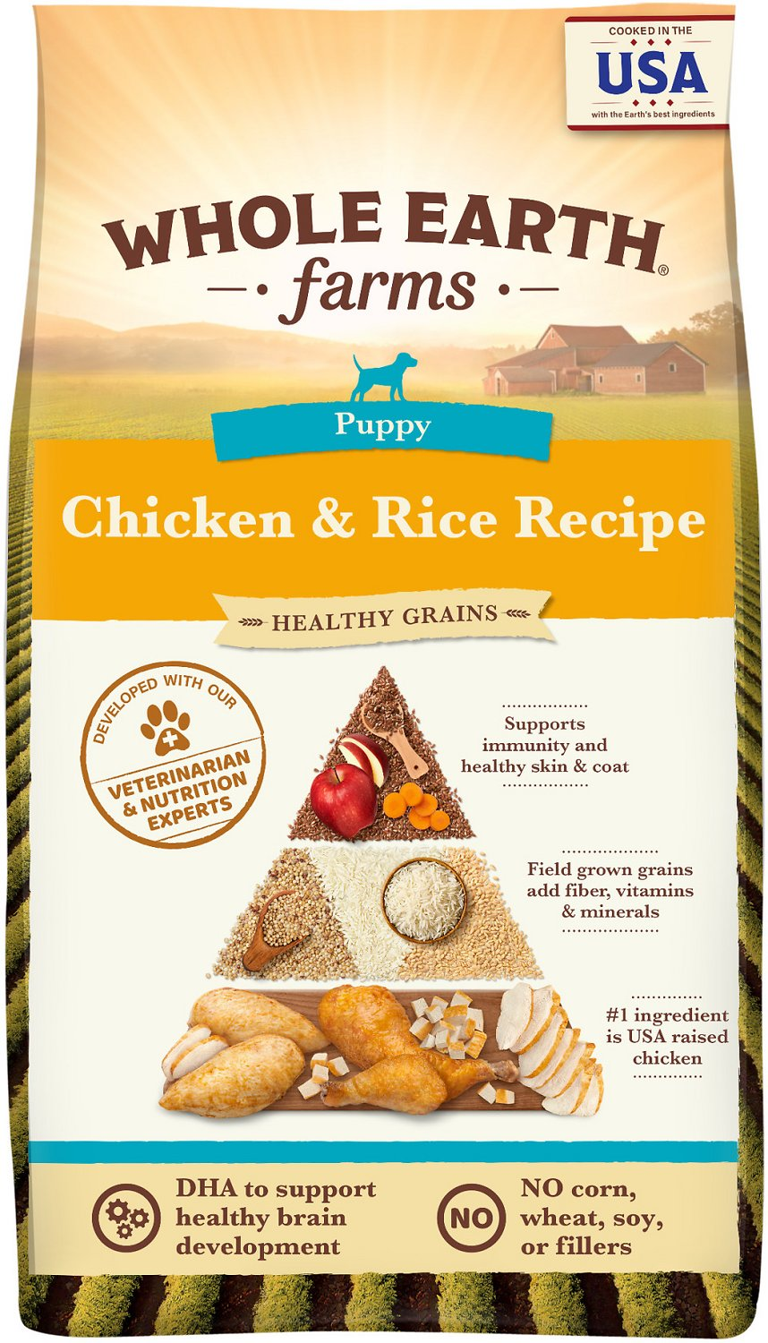 Best Food For Puppies >> Whole Earth Farms Puppy Recipe Dry Dog Food 25 Lb Bag