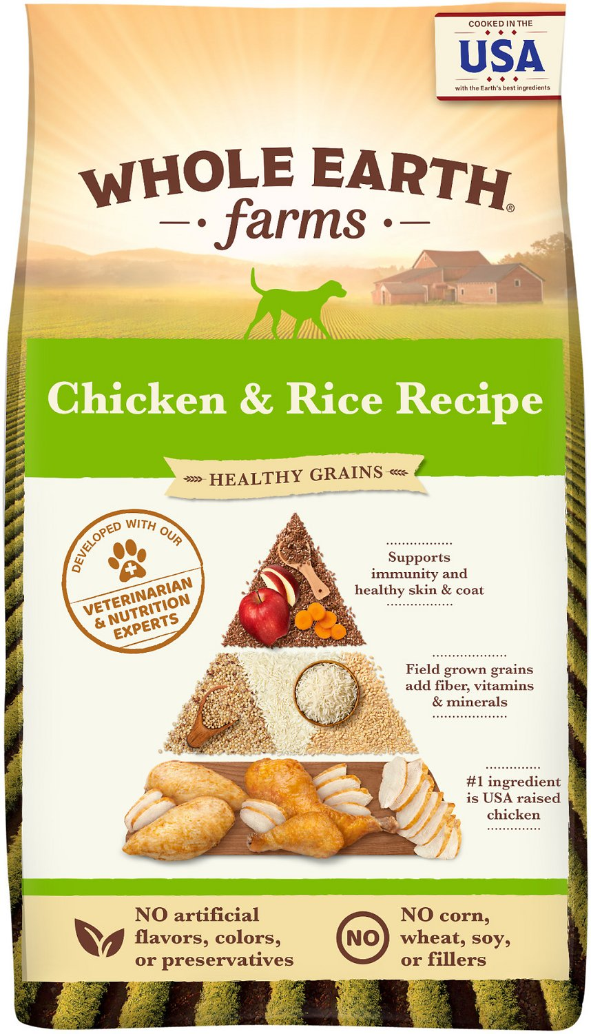 Whole earth farms adult recipe dry dog food 25 lb bag chewy video forumfinder Image collections
