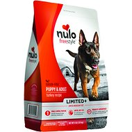 Nulo Freestyle Limited+ Turkey Recipe Grain-Free Puppy & Adult Dry Dog Food, 4-lb bag