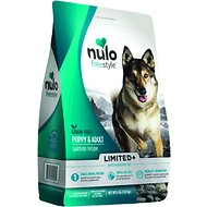 Nulo Freestyle Limited+ Salmon Recipe Grain-Free Puppy & Adult Dry Dog Food, 4-lb bag
