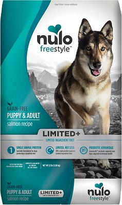 7. Nulo Freestyle Limited+ Salmon Recipe Grain-Free Puppy & Adult Dry Dog Food