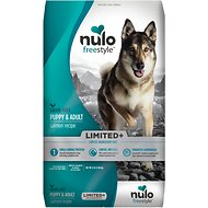 Nulo Freestyle Limited+ Salmon Recipe Grain-Free Puppy & Adult Dry Dog Food, 22-lb bag