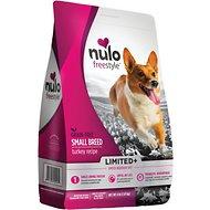 Nulo Freestyle Limited+ Turkey Recipe Grain-Free Small Breed Adult Dry Dog Food, 4-lb bag