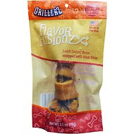 Grillerz Flavor Fusionz Lamb Trotter with Ham Skin Dog Treat, 2.5-oz bag