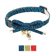 Necoichi Zen Gold Fish Charm Cat Collar, Blue