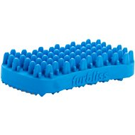 Furbliss Multi-Use Deshedding and Massaging Short Hair Dog, Cat & Small Animal Brush, Blue