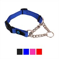 Max and Neo Dog Gear Martingale Chain Dog Collar, Blue, Medium