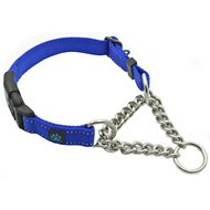 Max and Neo Dog Gear Martingale Chain Dog Collar, Blue, Medium/Large