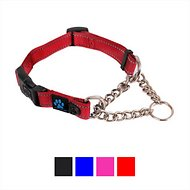 Max and Neo Dog Gear Martingale Chain Dog Collar, Red, Medium/Large