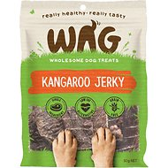 WAG Grain-Free Kangaroo Jerky Dog Treats, 1.76-oz bag