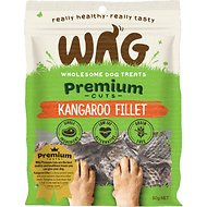 WAG Grain-Free Kangaroo Filet Dog Treats, 1.76-oz bag