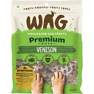 WAG Grain-Free Premium Cuts Venison Dog Treats, 1.76-oz bag