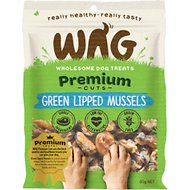 WAG Grain-Free Green Lipped Mussels Dog Treats, 1.76-oz bag