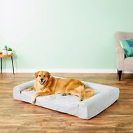 KOPEKS Sofa Lounge Orthopedic Memory Foam Dog Bed, Gray, X-Large