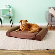 KOPEKS Sofa Lounge Orthopedic Memory Foam Dog Bed, Brown, Large