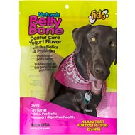 Fido Belly Bone Dental Care Yogurt Flavored Dog Bone, Large, 4 count