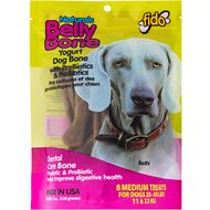 Fido Belly Bone Dental Care Yogurt Flavored Dog Bone, Medium, 8 count