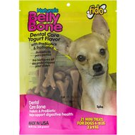 Fido Belly Bone Dental Care Yogurt Flavored Dog Bone, Mini, 21 count