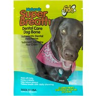Fido Super Breath Dental Care Dog Bone, Large, 4 count