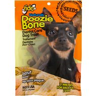 Fido Doozie Bone Dental Care Peanut Flavored Dog Treats, Mini, 21 count