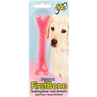 Fido Puppy's First Bone Beef Flavored Dog Teething Bone, Pink, Small