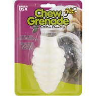 Fido Nylon Tuff-Plus Chew Grenade Beef Flavored Large Dog Chew Toy, Color Varies