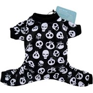 CuteBone Black & White Skull Print Dog Pajamas, X-Small