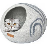 Meowfia Premium Felt Cat Cave Bed, Light Gray