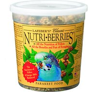 Lafeber Classic Nutri-Berries Parakeet Bird Food, 12.5-oz tub
