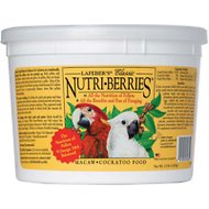 Lafeber Classic Nutri-Berries Macaw & Cockatoo Bird Food, 3.5-lb tub